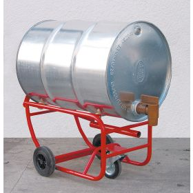 Fasskarre mit zusätzlichem Stützrad für den leichten Umgang mit Fässern | Tragkraft 300 kg