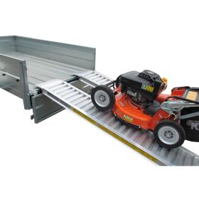 Rampes en aluminium 2500 mm, avec ou sans bord, disponibles en différentes largeurs
