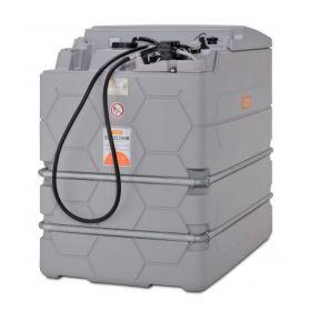 Cuve diesel CUBE de CEMO avec pompe électrique 230 V pour usage intérieur, capacité 1500 - 7500 l