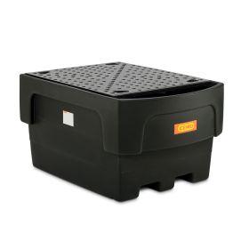 Abfüllstation für 1 IBC-Container aus PE in verschiedenen Ausführungen
