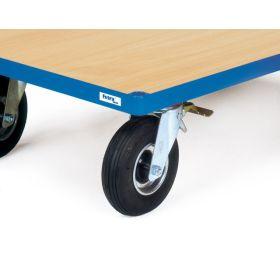 Aufpreis für Räder mit Luftbereifung, 220 x 70 mm, Tragkraft 400 kg, ab 600 mm Wagenbreite möglich