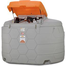 Cuve diesel CUBE de CEMO en différents versions avec pompe électrique pour usage l'extérieur   capacité 5000 l