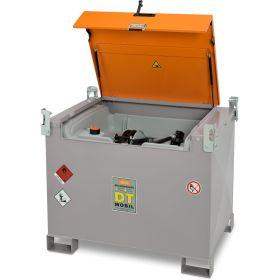 Baustellentank DT-Mobil PRO PE in zwei Varianten für 440 Liter Diesel mit Schnellkupplung, 12 V- oder 24 V- Elektropumpe