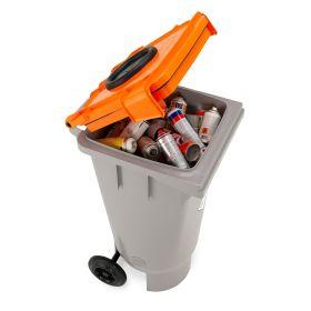 Fahrbarer Sammelbehälter für Spraydosen