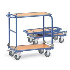 Klappwagen mit 2 klappbaren Bügeln und 2 Tischplattformen | Tragkraft 250 kg