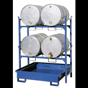 Ständer für Fässer und Kleingebinde, beliebig kombinierbar, 3-fach stapelbar, lackiert oder verzinkt erhältlich
