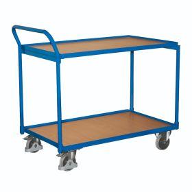 Chariot de table avec 2 plateaux de chargement