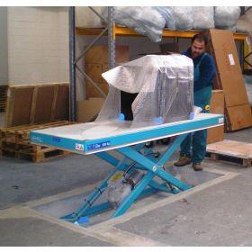 Ergo-Lift 1E Hubtisch mit Einfach-Schere für gleichmässig verteilte Lasten, Tragfähigkeit 500 - 2000 kg, in verschiedenen Ausführungen