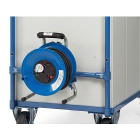 Zubehör zu Werkstattwagen - Kabeltrommel, Feuchtraum-Ausführung, inkl. Anbausatz
