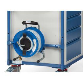 Zubehör zu Werkstattwagen - Druckluftschlauchtrommel mit 25 m Schlauch, inkl. Anbausatz