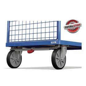 TOTALSTOP-Zentralbremssystem für Transportwagen