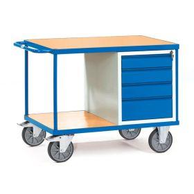 Schwerer Werkstattwagen mit 2 Ablageflächen und 4 Schubladen