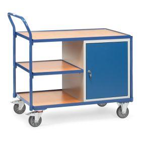 Servante d'atelier avec 3 étagères et 1 armoire