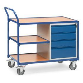 Werkstattwagen mit 3 Ablageflächen und 4 Schubladen