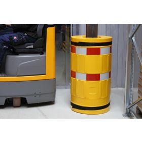 Säulenschutz mit Warnschutzfolie