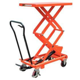 Doppelscheren-Hubtischwagen 350 kg, Höhe Tisch max. 1300 mm, Tischgrösse 910 x 500 mm