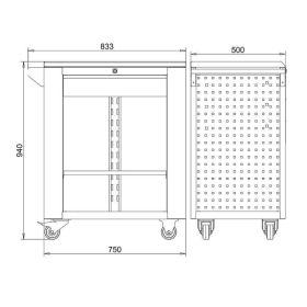 Werkstattwagen offene Ausführung mit 1 Schublade