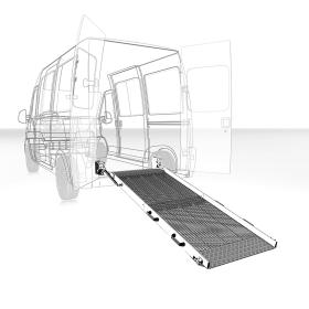 Rampe pliante en aluminium, disponible en 2 longueurs