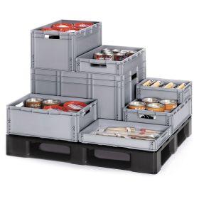 Euro-Stapelbehälter in praktischen Grössen für Lagerung und Transport
