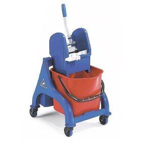 Chariot de nettoyage mobile professionnel avec seau simple de 25 l et presse pour le serpillière