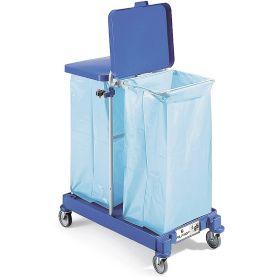 Chariot pour déchets avec support pour 2 sacs poubelles à 120 l