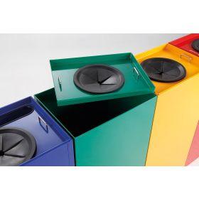 Abfallbehälter mit abnehmbarem Deckel in verschiedenen Farben