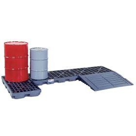 Auffahrrampe zu Kunststoffauffangböden