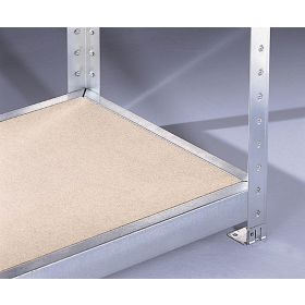 Regal mit Spanplattenfächer