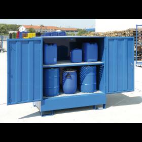 Grille galvanisée pour bac de rétention fermé (Art. 5145) comme niveau de stockage supplémentaire
