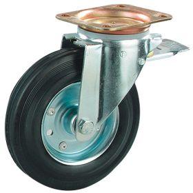 Roues de transport avec jantes métalliques et pneus en caoutchouc, diamètre 80 - 200 mm | capacité de charge jusqu'à 205 kg