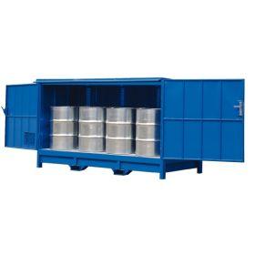 Etagère fermée pour fûts ou conteneurs IBC