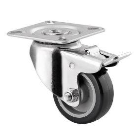 Roulettes d'appareil rotatif avec fixation par vis | diamètre 50 - 125 mm | avec et sans fonction de blocage