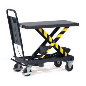 Hubtischwagen mit feststehenden Schiebebügel