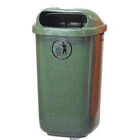 Abfallbehälter für öffentliche Plätze, in diversen Farben