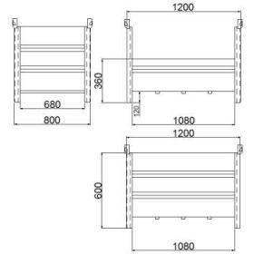 Materialbox mit niedrigem Seitenteil