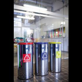 Abfallbehälter rostfrei
