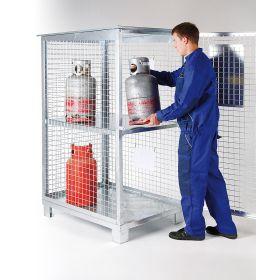 Bereitschaftslager für 6 - 12 Gasflaschen technischer Gase