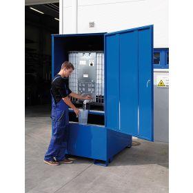 Geschlossene Auffangwanne für 1 x IBC-Container