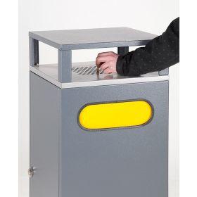 Abfallbehälter mit Aschenbecher