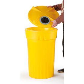 Conteneur en plastique avec ouverture en différentes couleurs