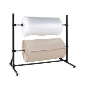 Support pour 2 rouleaux de matériel d'emballage horizontal