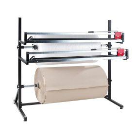 Support de découpe pour 2 rouleaux de matériau d'emballage horizontal