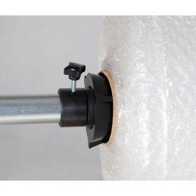 Support de découpe pour 1 rouleau de matériau d'emballage horizontal