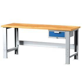 Table de travail avec 1 tiroir, réglable en hauteur