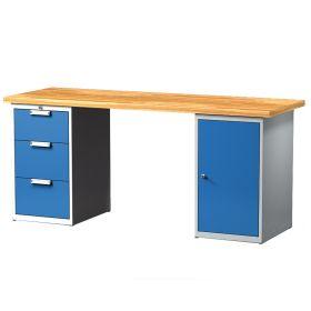 Table de travail avec 3 tiroirs et 1 porte
