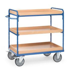 Chariots à plateaux à 3 caissettes en différentes tailles
