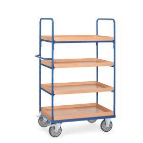 Chariots à plateaux à 4 caissettes en différentes tailles
