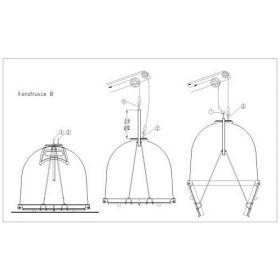 Glasfaser-Container Entleerung Konstruktion B