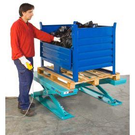 Flacher Hubtisch A8.U mit U-Profil-Plattform, ohne Grube verwendbar, Tragfähigkeit 1000 kg