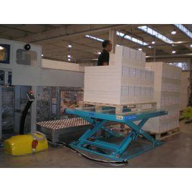 Flacher Hubtisch A8.C mit Vollplattform, Tragfähigkeit 1000 - 1500 kg, verschiedene Ausführungen